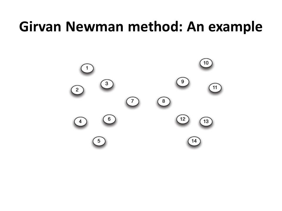 Girvan Newman method: An example