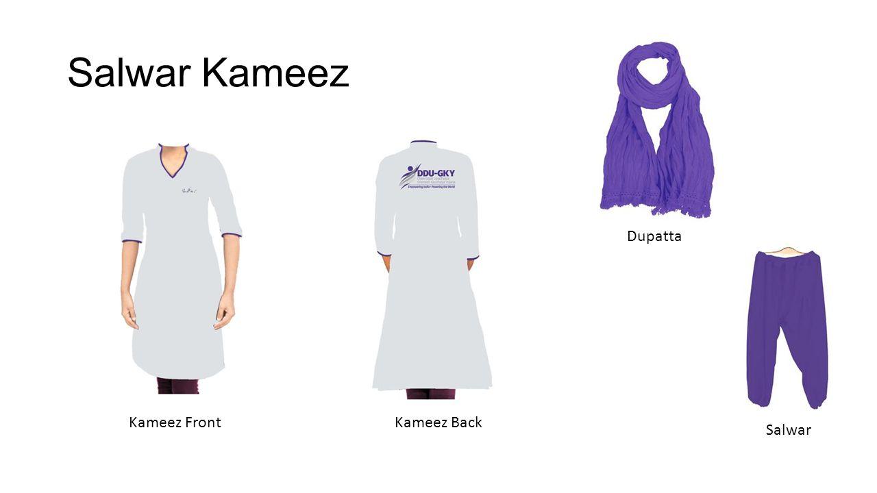 Salwar Kameez Kameez FrontKameez Back Salwar Dupatta