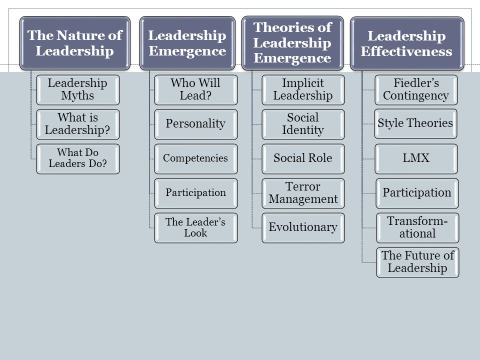 The Nature of Leadership Leadership Myths What is Leadership.