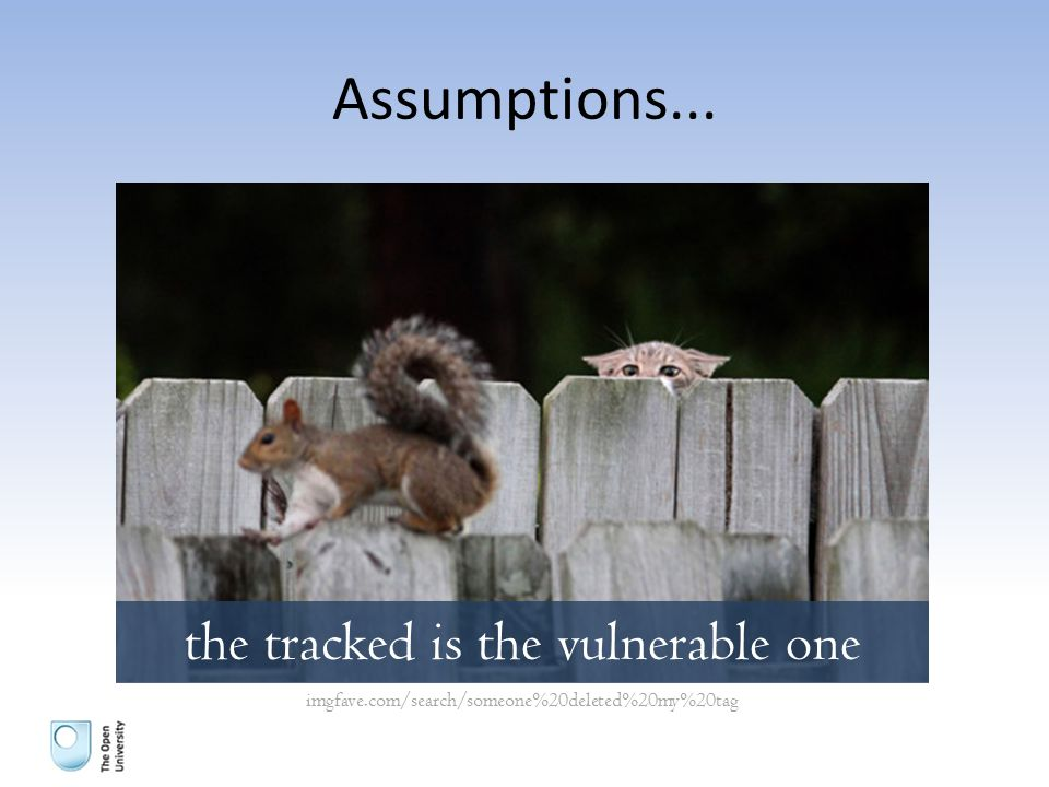 Assumptions... the tracked is the vulnerable one imgfave.com/search/someone%20deleted%20my%20tag