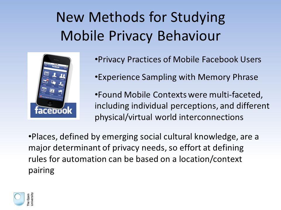 Challenge 26 Build a system capable of learning mobile privacy policies enforceable on mobile devices to reduce intervention in privacy management.