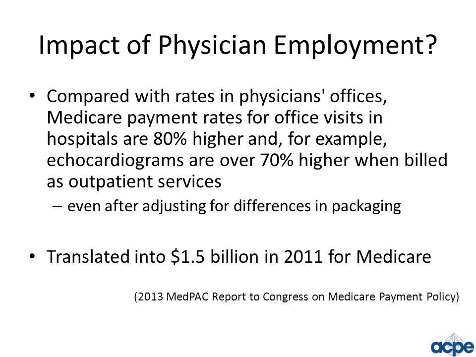 Impact of Physician Employment.