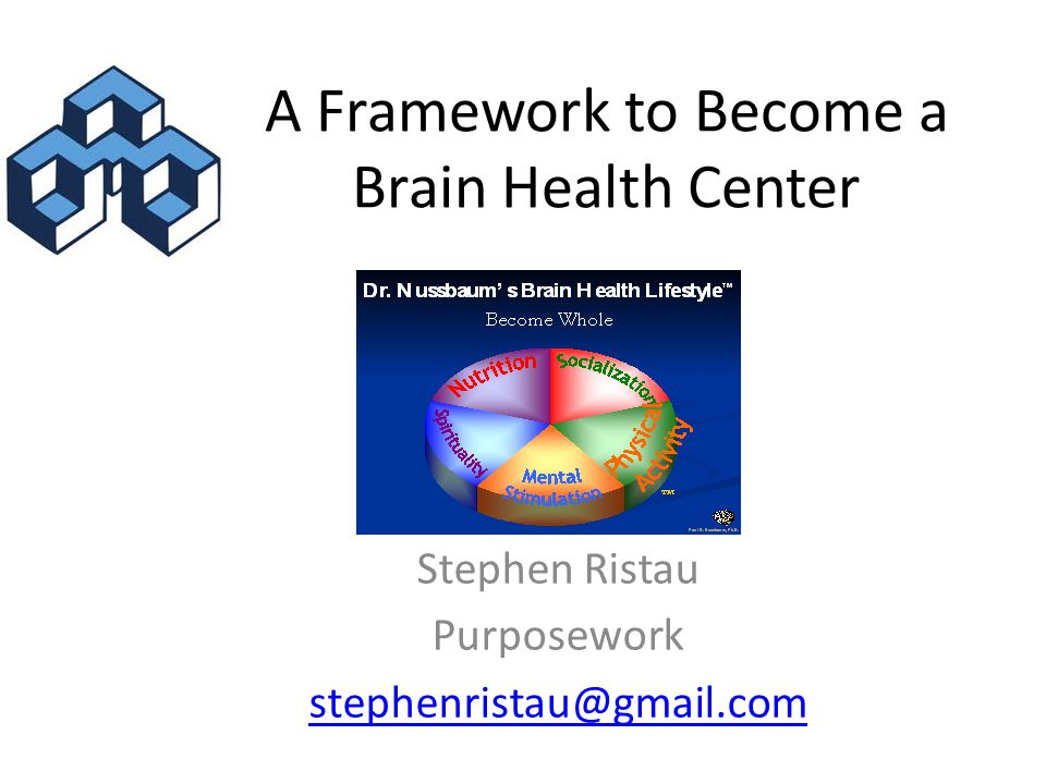 A Framework to Become a Brain Health Center Stephen Ristau Purposework stephenristau@gmail.com