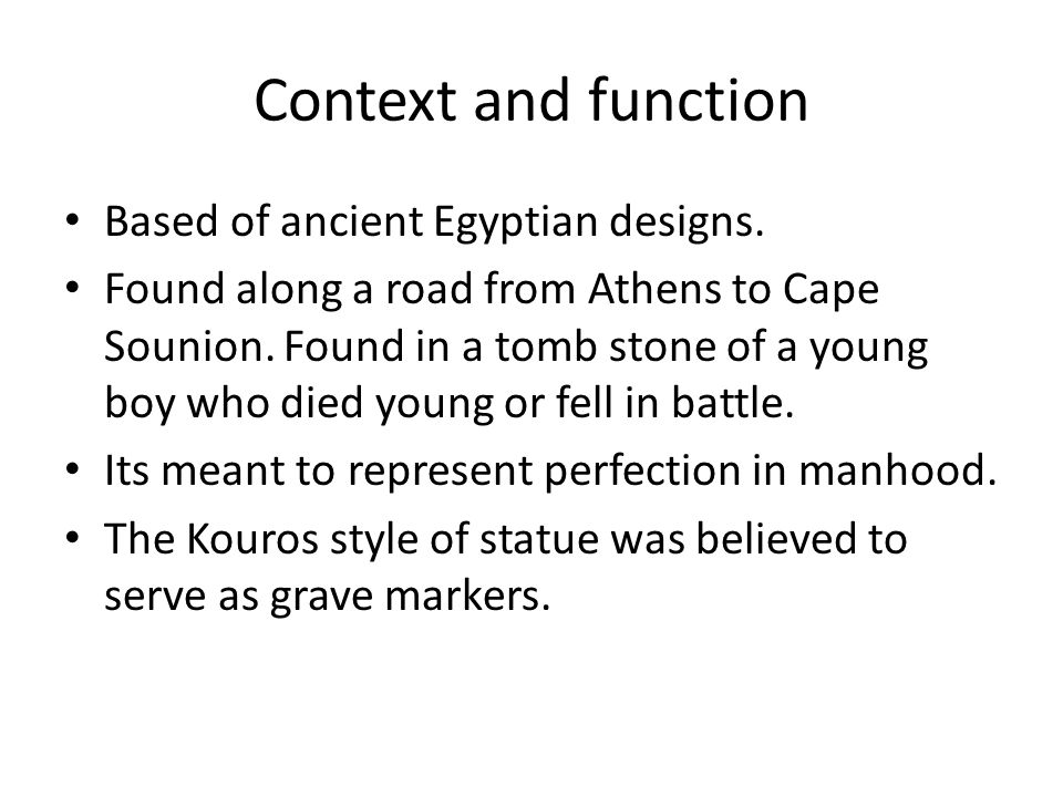 Context and function Based of ancient Egyptian designs.