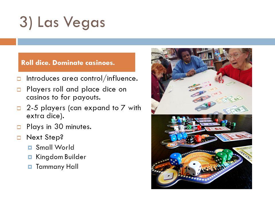3) Las Vegas  Introduces area control/influence.