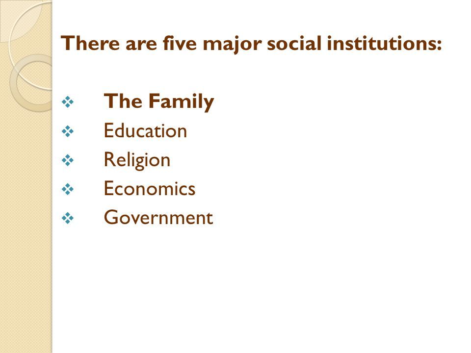 The family is the smallest social institutions with the unique function or producing and rearing the young.