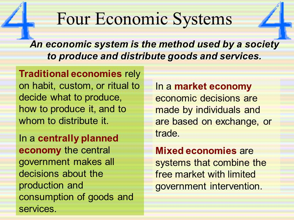 Economic Goals Making the most of resourcesEconomic efficiency Freedom from government intervention in the production and distribution of goods and services Economic freedom Assurance a safety net will protect individuals in times of economic disaster Economic security and predictability Fair distribution of wealthEconomic equity Innovation leads to economic growth, and economic growth leads to a higher standard of living.