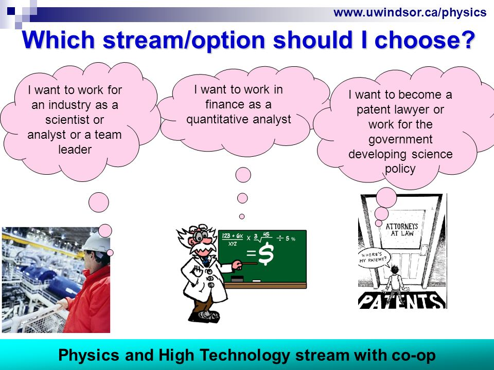 www.uwindsor.ca/physics I want to work in finance as a quantitative analyst Which stream/option should I choose.