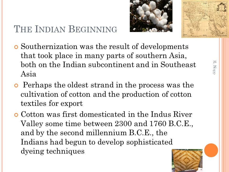 The introduction of Indian crops, such as sugar and cotton, led to a much more intensive agriculture in the Middle East and some parts of the Mediterranean Under Arab auspices, Indian mathematics followed the same routes as crops Al-Kharazmi (ca.