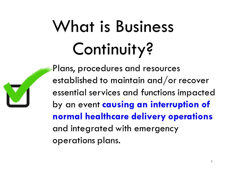 What is Business Continuity.