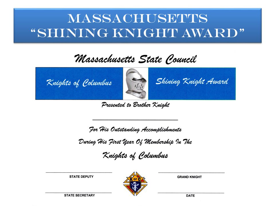 Massachusetts Shining Knight Award