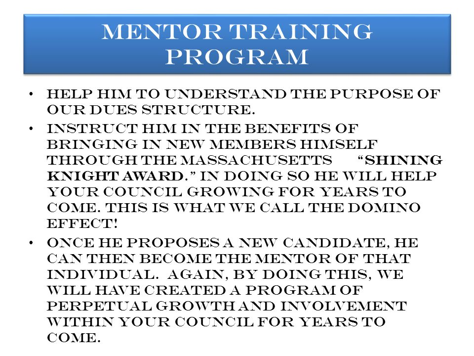 What else will your mentor do for you.