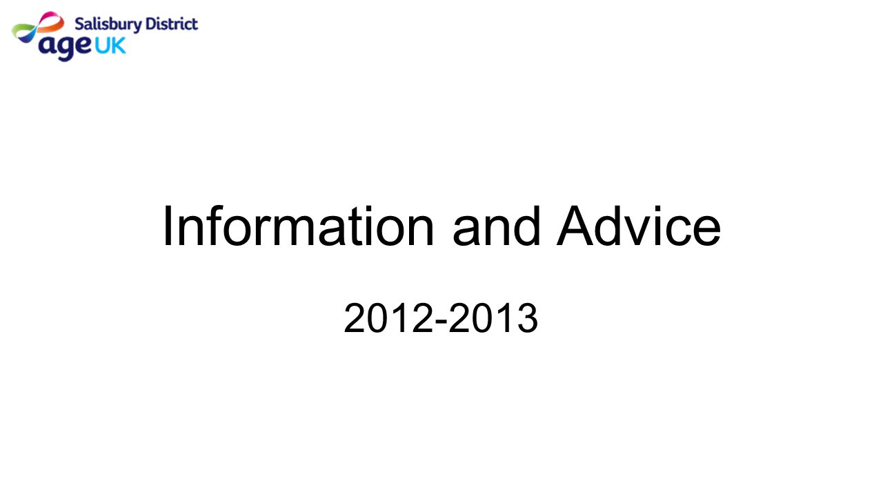 Information and Advice 2012-2013