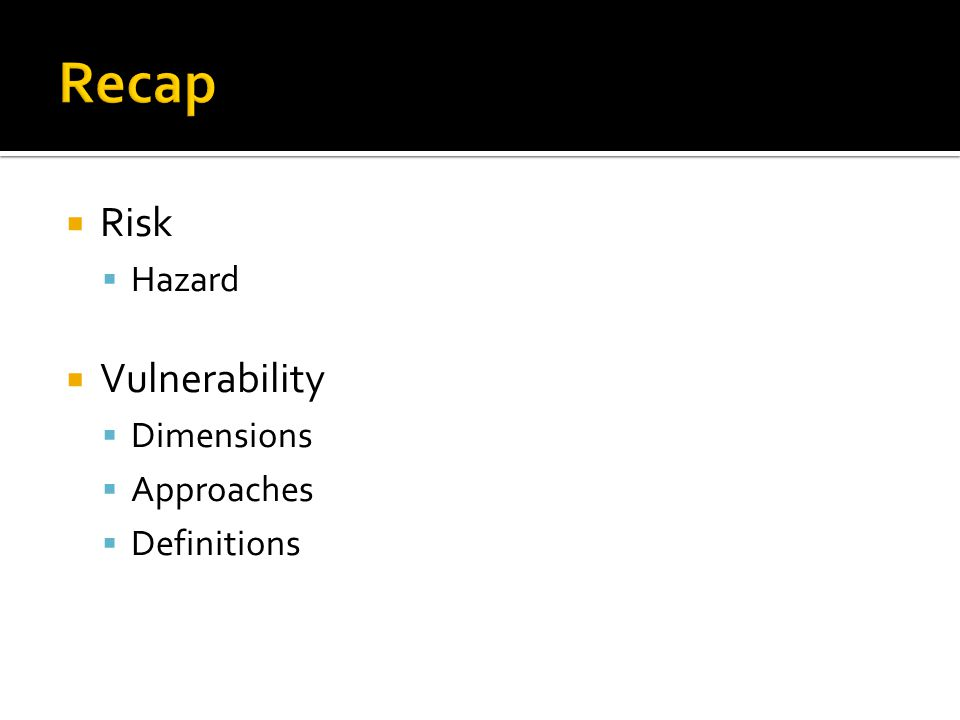  Risk  Hazard  Vulnerability  Dimensions  Approaches  Definitions