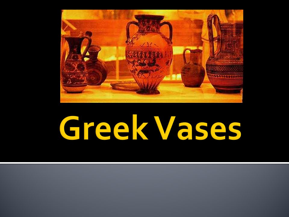 The most frequent form of vase was the amphora.