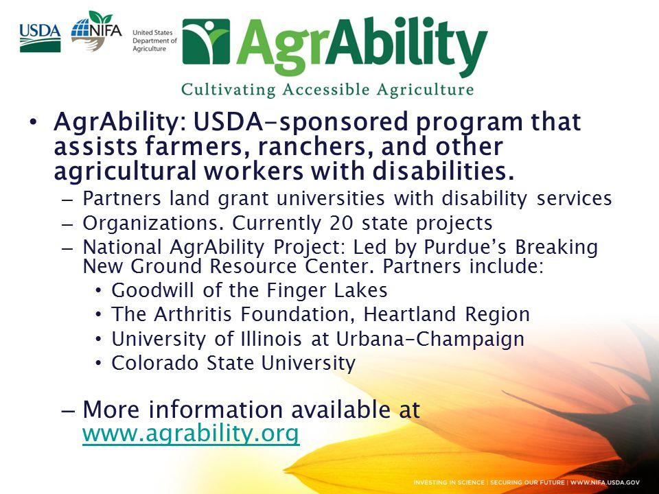 Federal Update 2014 AgrAbility Virtual NTW Dec. 2, 2014