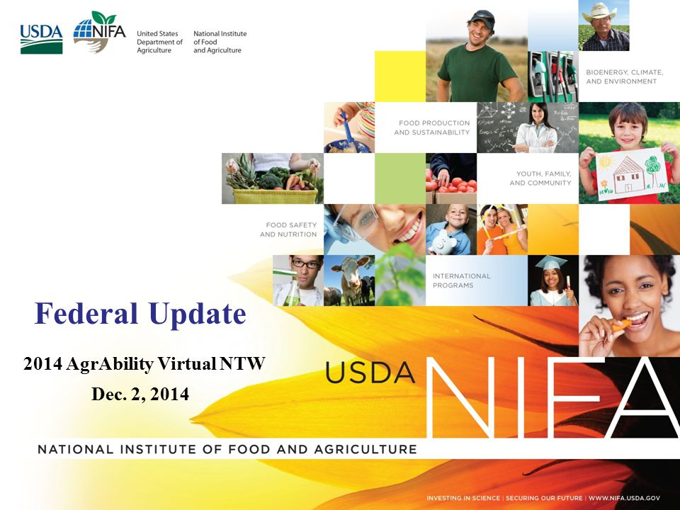 USDA/NIFA Welcome Strengthening Families, Farms, Communities and the Economy Aida Balsano, Ph.D.