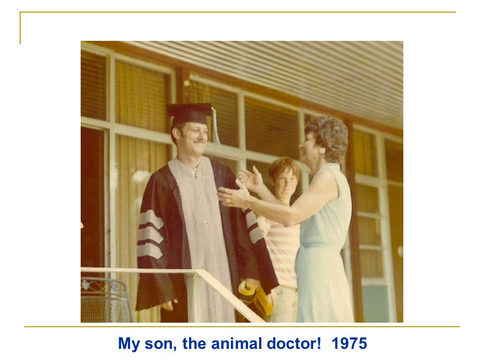 My son, the animal doctor! 1975