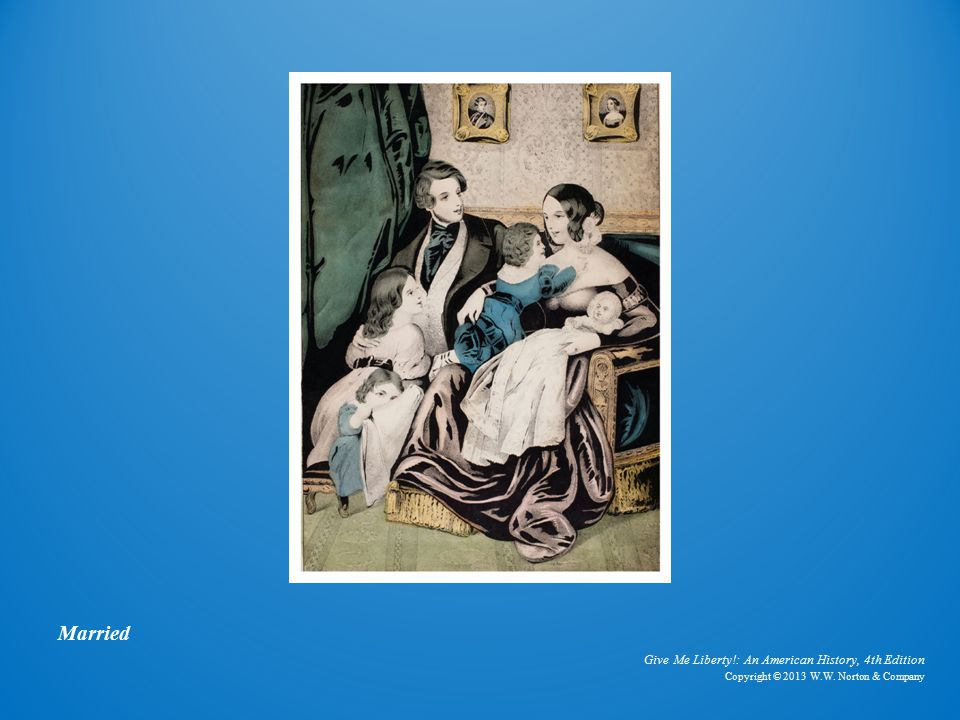 Give Me Liberty!: An American History, 4th Edition Copyright © 2013 W.W. Norton & Company Married