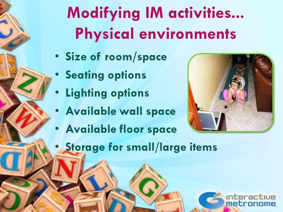 Modifying IM activities...