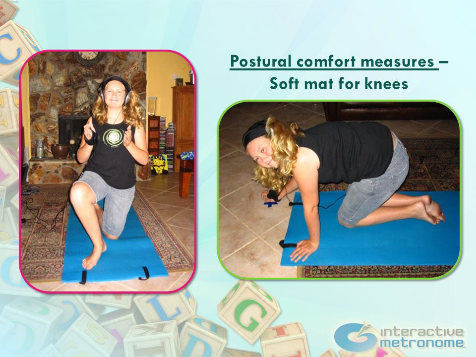 Postural comfort measures – Soft mat for knees