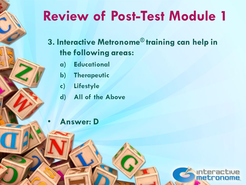 Review of Post-Test Module 1 3.