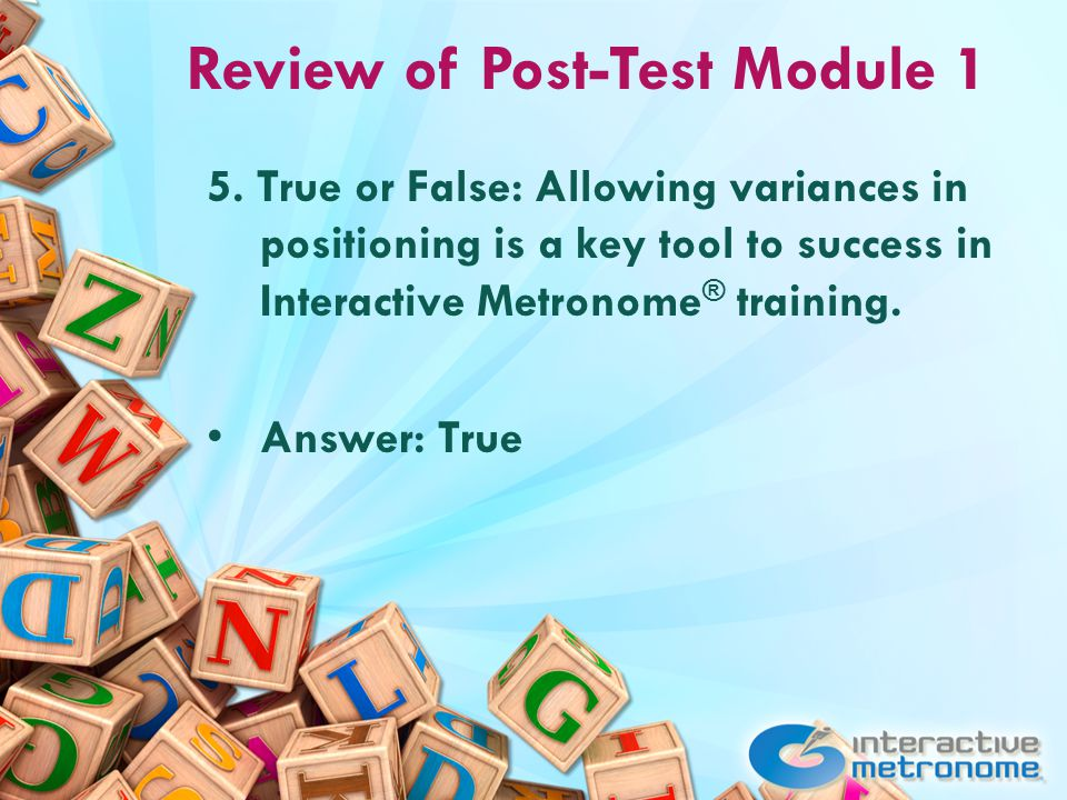 Review of Post-Test Module 1 5.