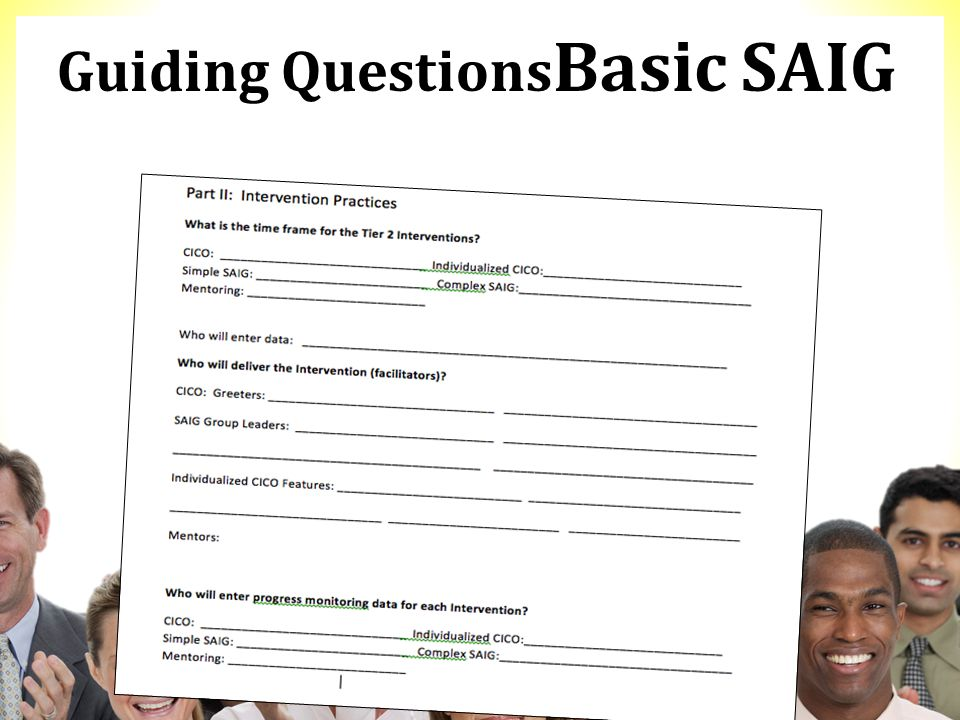 Guiding Questions Basic SAIG