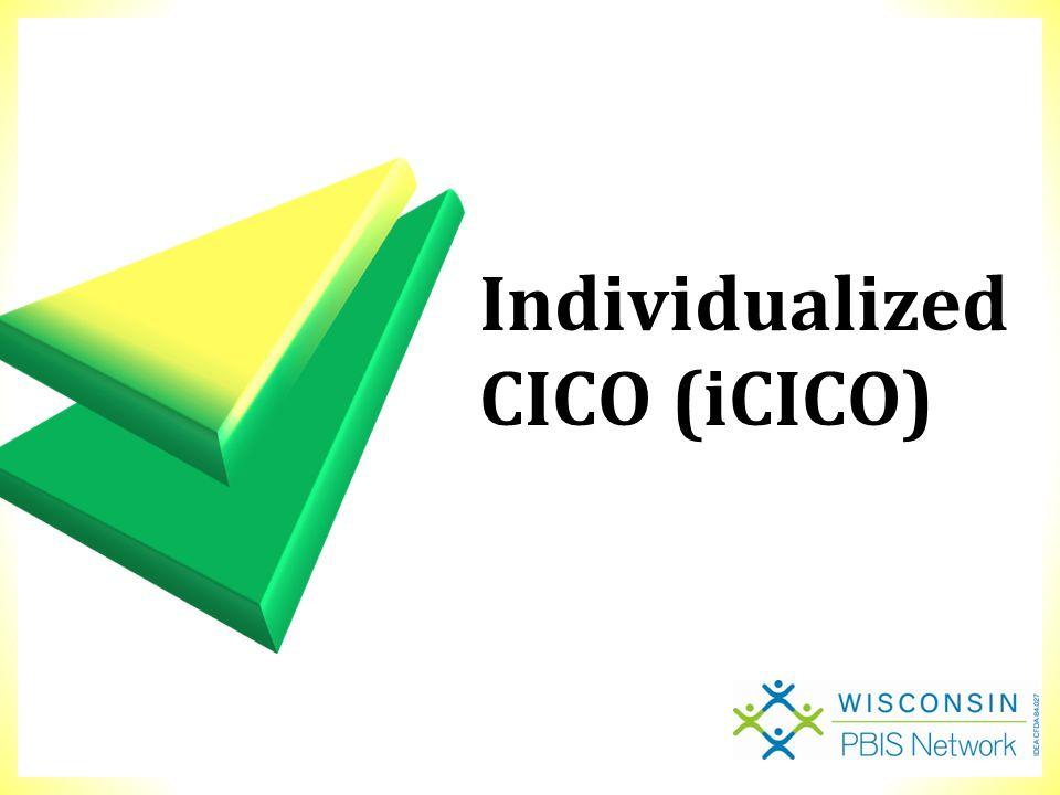 Individualized CICO (iCICO)