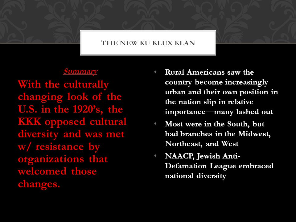Summary With the culturally changing look of the U.S.