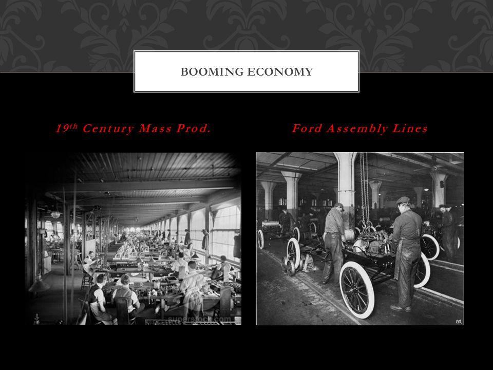 SLO's Compare economic and cultural life in rural and urban America.