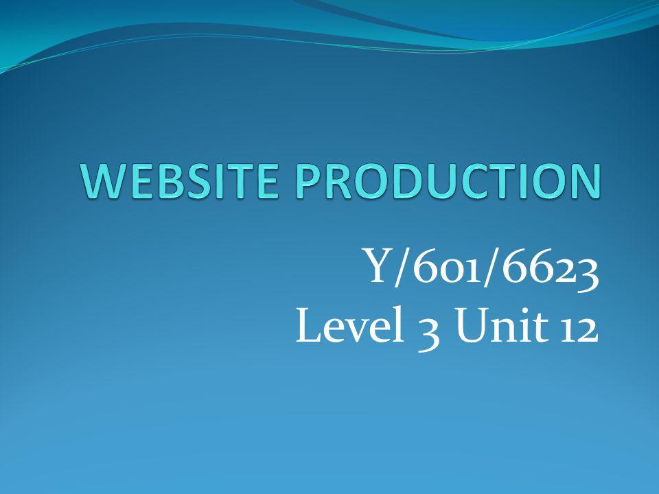 Y/601/6623 Level 3 Unit 12