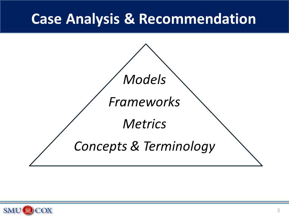 Case Analysis & Recommendation Models Frameworks Metrics Concepts & Terminology 3