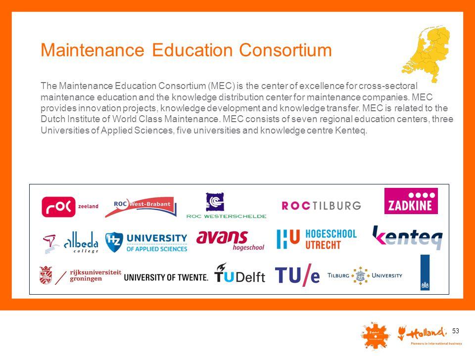 Maintenance Education Consortium 53 The Maintenance Education Consortium (MEC) is the center of excellence for cross-sectoral maintenance education an
