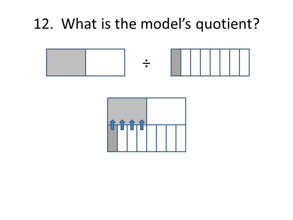 12. What is the model's quotient ÷