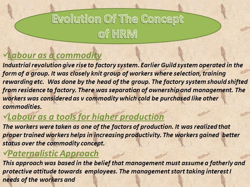 Labour as a commodity Industrial revolution give rise to factory system. Earlier Guild system operated in the form of a group. It was closely knit gro
