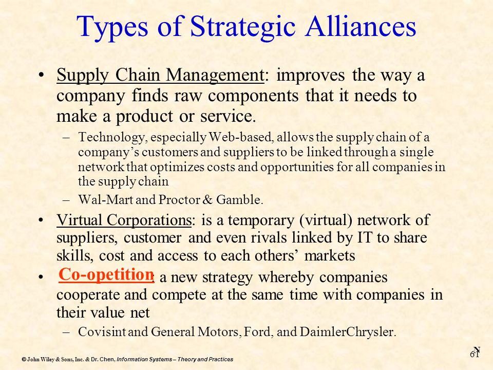 Dr. Chen, Information Systems – Theory and Practices  John Wiley & Sons, Inc. & Dr. Chen, Information Systems – Theory and Practices 61 Types of Str