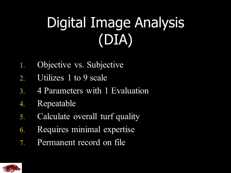 Digital Image Analysis (DIA) 1. 1. Objective vs.