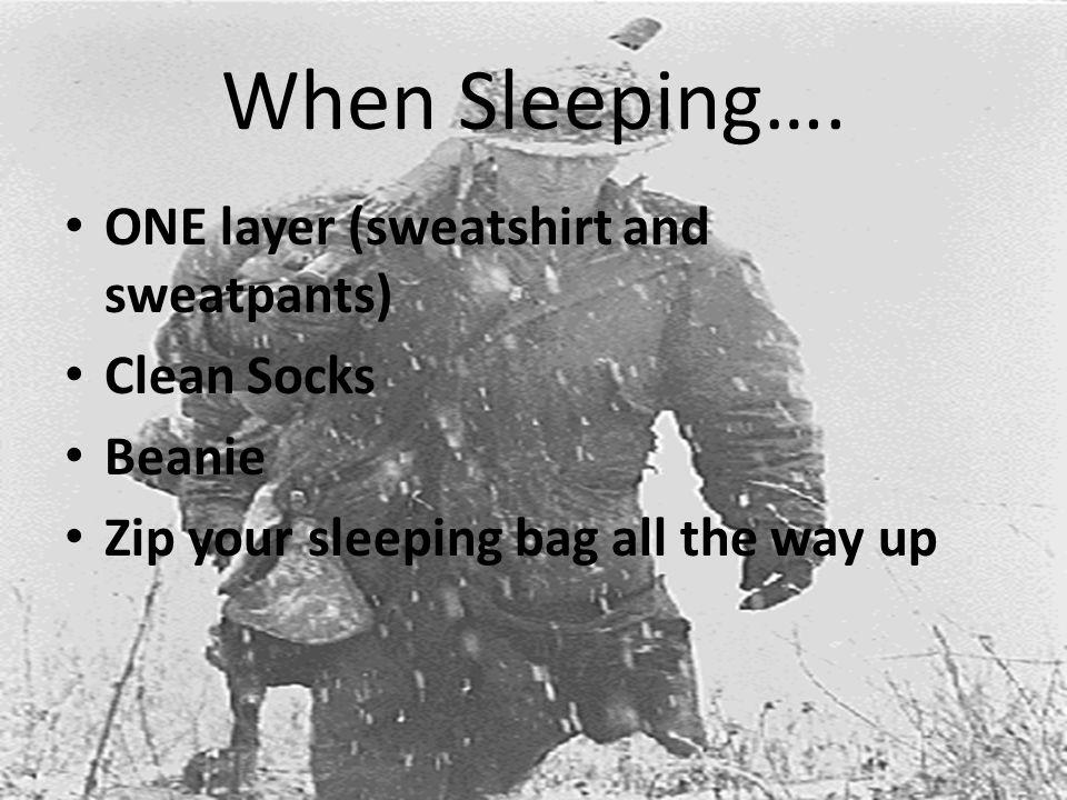 When Sleeping….