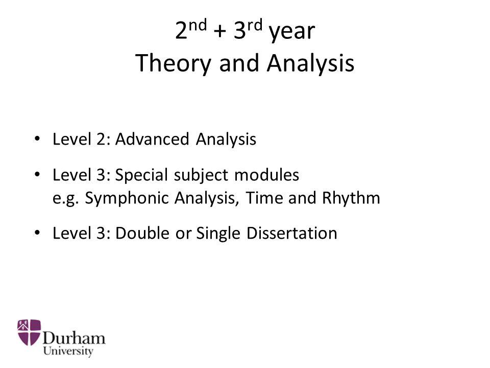 2 nd + 3 rd year Techniques Level 2: Advanced Techniques (e.g.
