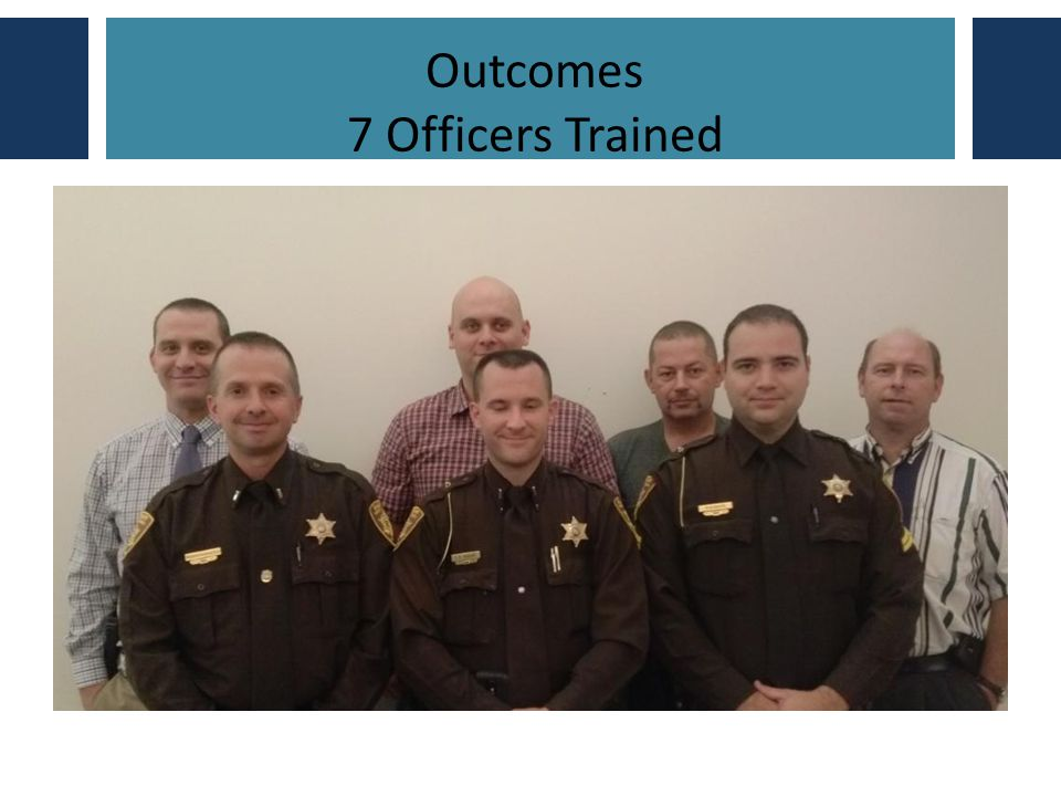 Outcomes 7 Officers Trained