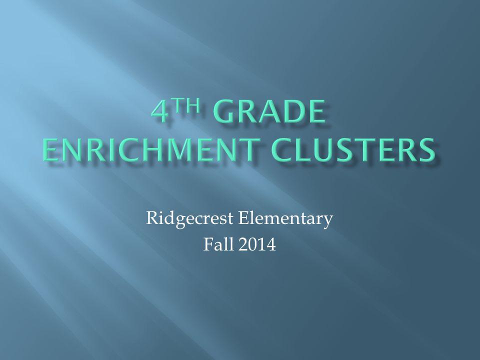 Ridgecrest Elementary Fall 2014