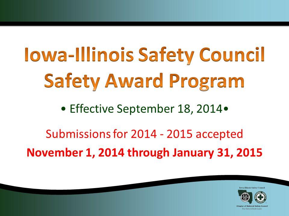 Community Enrichment Award Hazard Control Recognition Award President's Award