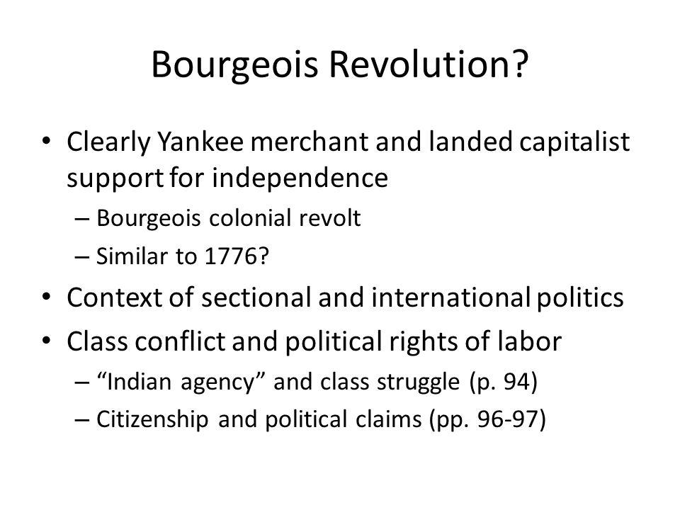 Bourgeois Revolution.