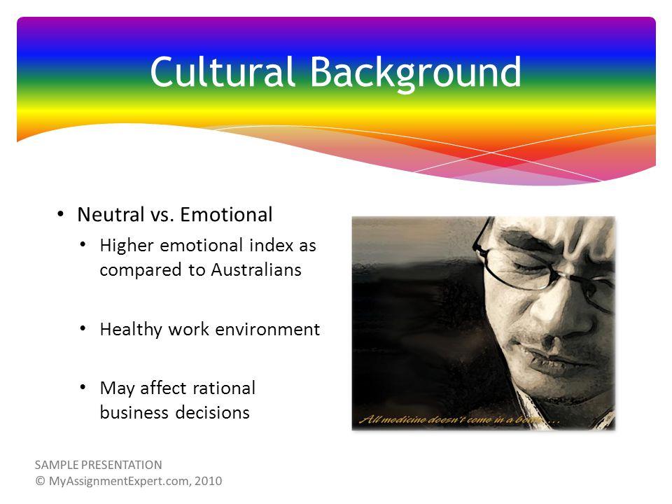 Cultural Background Neutral vs.