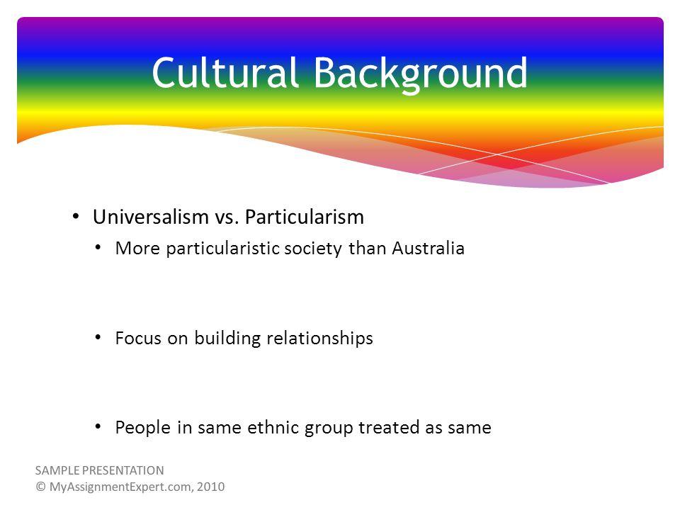 Universalism vs.