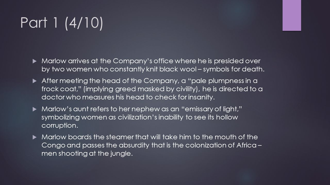 Part 1 (5/10)  They reach the Company's