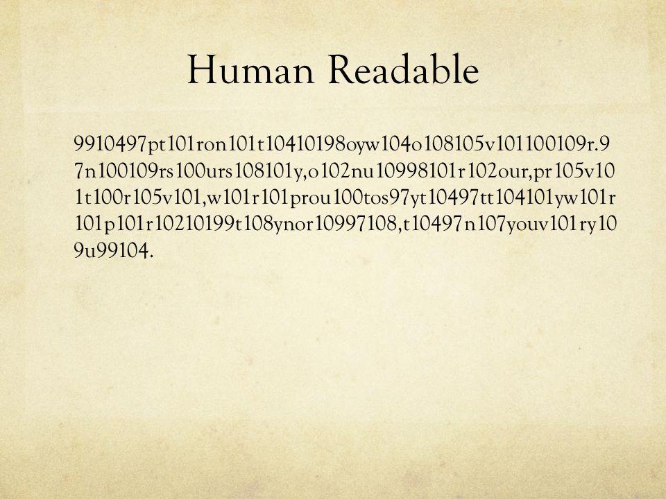 Human Readable 9910497pt101ron101t10410198oyw104o108105v101100109r.9 7n100109rs100urs108101y,o102nu10998101r102our,pr105v10 1t100r105v101,w101r101prou100tos97yt10497tt104101yw101r 101p101r10210199t108ynor10997108,t10497n107youv101ry10 9u99104.
