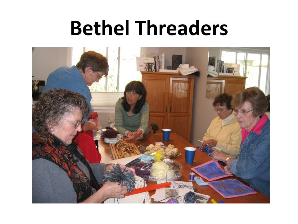 We're always teaching each other a new skill, such as the knitting loom, or crocheting or knitting techniques.