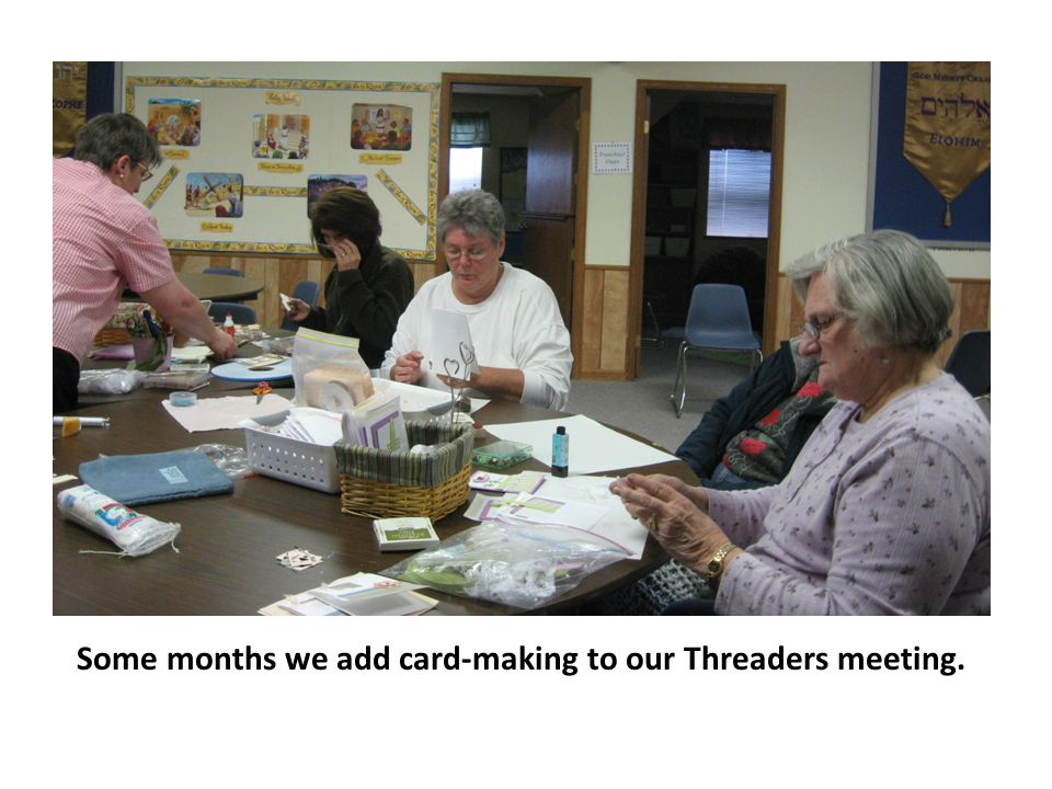 And some months we add jewelry-making to Threaders.